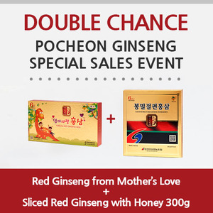 [Double chance]Red Ginseng from Mother's Love + Sliced Red Ginseng with Honey 300g