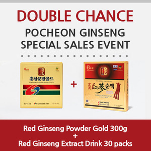 [Double chance]Red Ginseng Powder Gold 300g + Red Ginseng Extract Drink 30 packs
