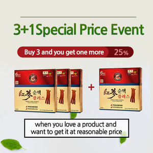 [3+1]Red Ginseng Extract Drink Plus 60 packs 3+1