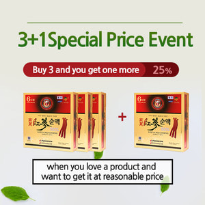 [3+1]Red Ginseng Extract Drink 80mlx60packs 3+1